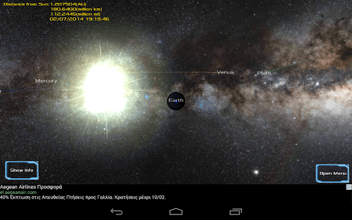 Solar System 3d Viewer screenshot 1