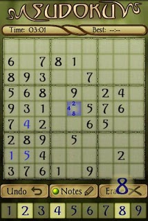Sudoku screenshot 1